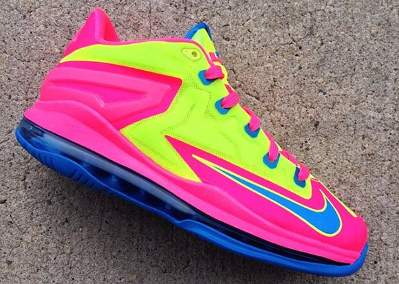 Nike LeBron 11 Low GS Volt/Photo Blue-Pink