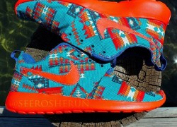 "Nike Roshe Run ""The Urban Native"" Customs by See Roshe Run"