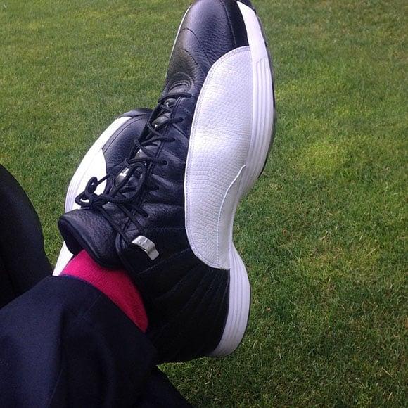 Reggie Saunders in Playoff Air Jordan 12 Golf Shoes