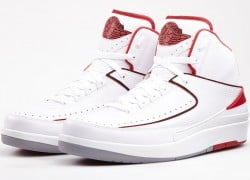 Release Reminder: Air Jordan II (2) 'White/Black-Varsity Red-Cement Grey'