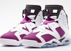 Release Reminder: Air Jordan VI (6) GS 'White/Vivid Pink-Bright Grape-Black'