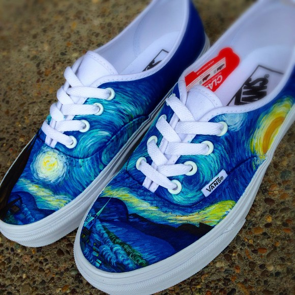 7219f06e6b Vans Era  Starry Night  Customs by Shme Customs