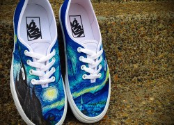 Vans Era 'Starry Night' Customs by Shme Customs