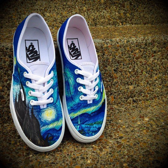 02a86b47537d Vans Era  Starry Night  Customs by Shme Customs