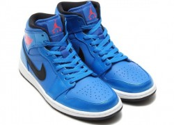 Air Jordan 1 Mid 'Sport Blue/Infrared 23-Black-White'