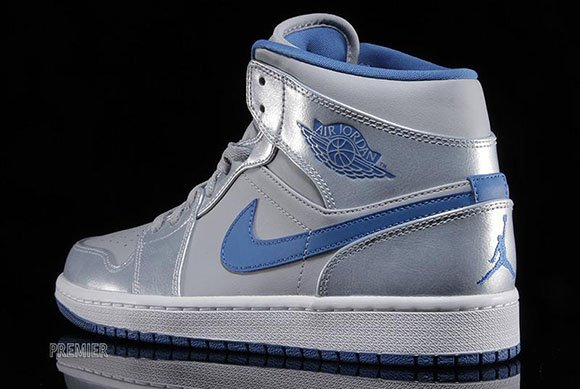 Air Jordan 1 Mid Wolf Grey Sport Blue White Sneakerfiles
