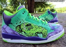 Air Jordan Retro 3 'Gamma Bomb' Customs by Ecentrik Artistry