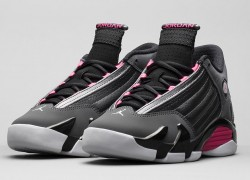 Air Jordan XIV (14) GS 'Metallic Dark Grey/Hyper Pink-Black-White' – Official Images