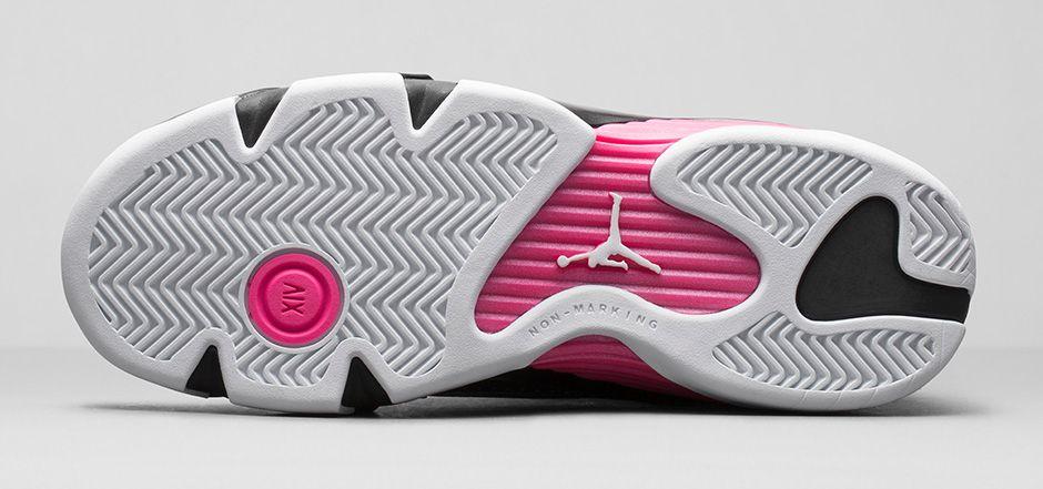 57f433ee5ad Air Jordan XIV (14) GS 'Metallic Dark Grey/Hyper Pink-Black-White ...