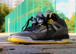Jordan Spiz'ike GS 'Cool Grey/Vibrant Yellow-Black'