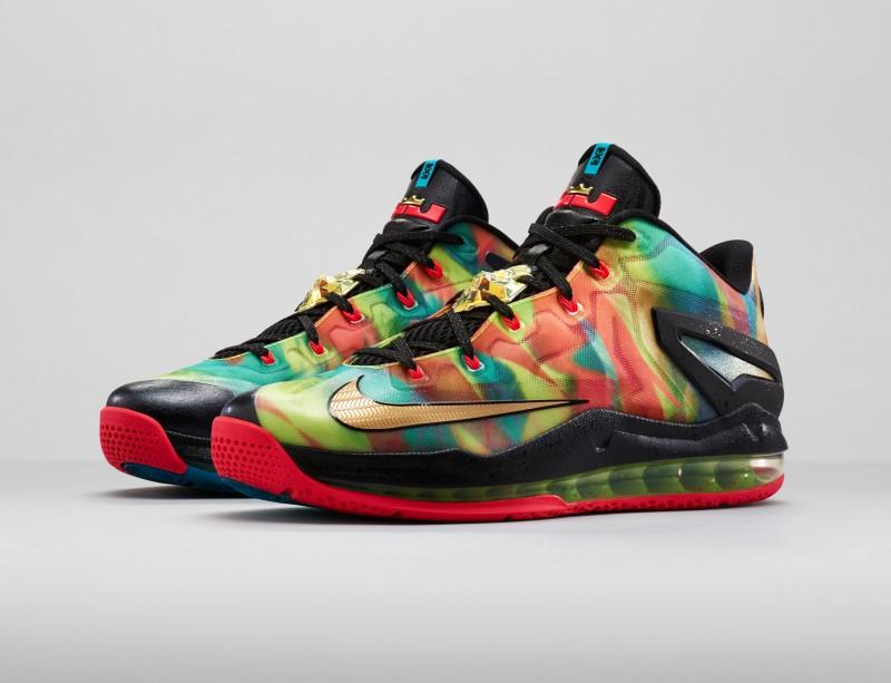 new arrival b2fde 9adb0 hot sale Nike LeBron XI 11 Low SE Multicolor Foot Locker Release Details