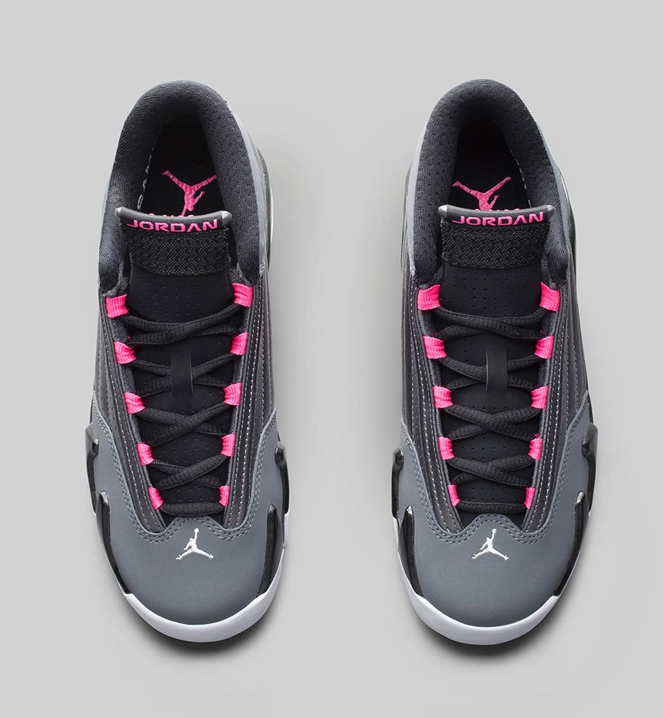 100% authentic 38871 7fc6d Release Reminder Air Jordan XIV 14 GS Metallic Dark Grey ...