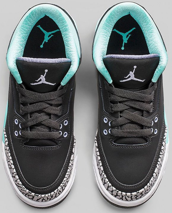 Air Jordan 3 Girls (GS) Bleached Turquoise - Official Images