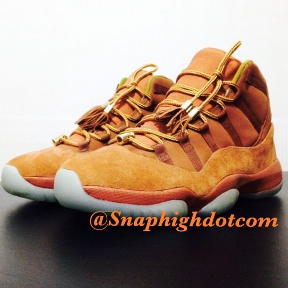 Air Jordan Retro 11 'Lambskin Suede' Customs by SnapHIGH Customs