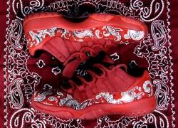 Air Jordan Retro 11 Lows 'Bloods' Custom by Alberto Lou