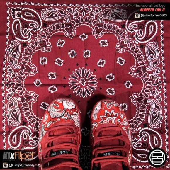 7cb4b22c40b Air Jordan Retro 11 Lows  Bloods  Custom by Alberto Lou