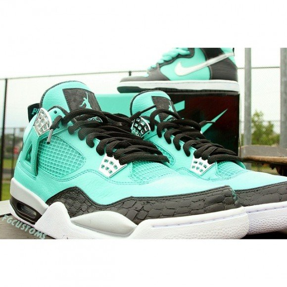 f73aafe9b12a Air Jordan Retro 4  Tiffany  Customs by FGCustoms
