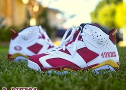 Air Jordan Retro 6 '49ers' Customs by B. Riverz