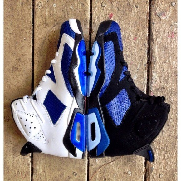 finest selection 5c8a3 4cb09 air-jordan-retro-6-royal-blue-python-customs-