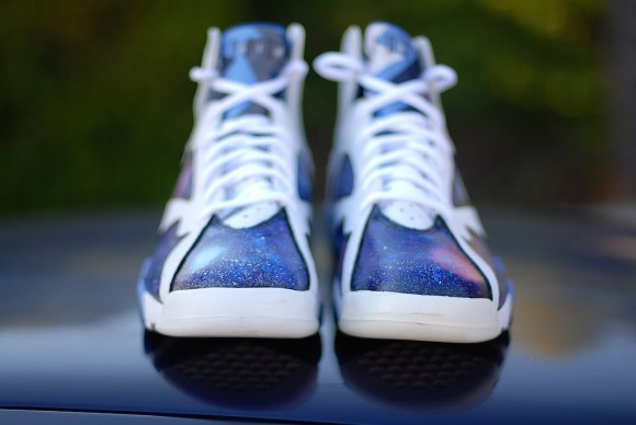 online store b7a50 73895 air-jordan-retro-7-galaxy-customs-by-have-