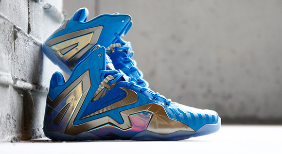 Blue 3M Nike LeBron 11 Elite