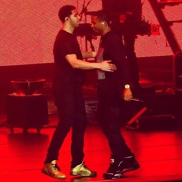 Drake Wears All Gold Air Jordan 3