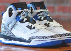 Jordan Spizike GS White/Sport Blue-Black-Wolf Grey