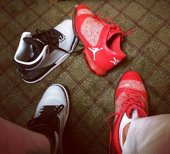 Keegan Bradley in Red Elephant Air Jordan XX9 Golf Shoes