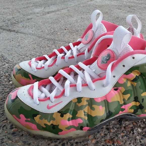 online store ed4c2 9dd5c nike-air-foamposite-one-salmon-olive-camo-customs-