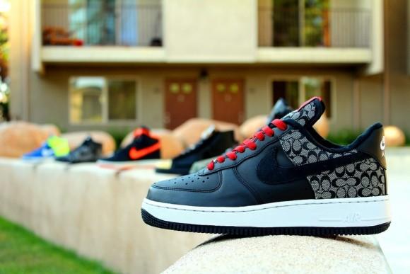 Nike Air Force 1  Coach Force 1  Customs by Groundbreaker Customs ... 0c9668691