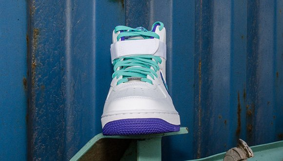 Nike Air Force 1 High – White Dark Concord-Hyper Jade