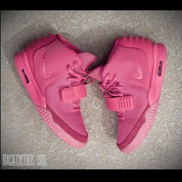 Nike Air Yeezy 2 Pink Customs by Mache Custom Kicks