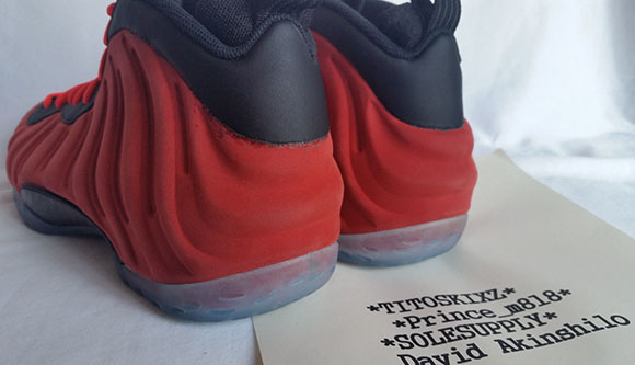 Nike Foamposite One Red Suede Sample