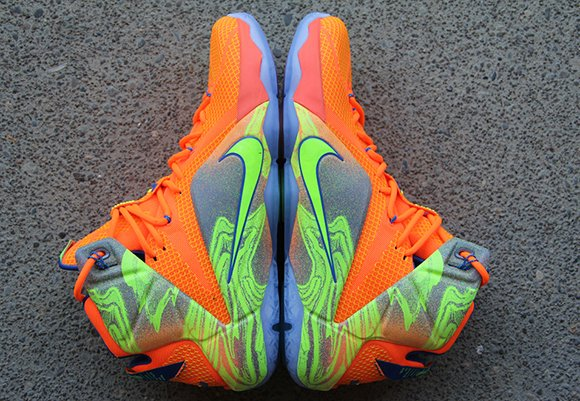 super popular 20e9a 3aa8e Nike LeBron 12 Orange/Volt - Detailed Look | SneakerFiles