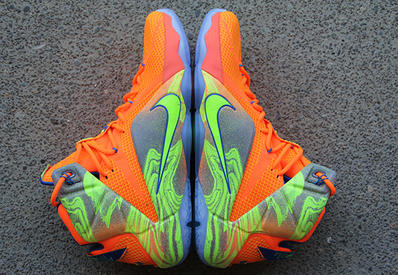 Nike LeBron 12 Orange/Volt – Detailed Look