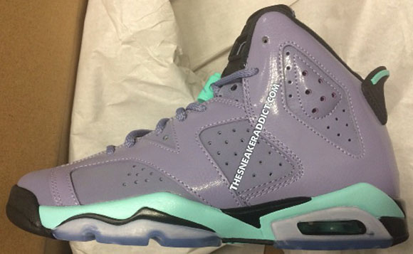 Release Date: Air Jordan 6 GS Iron Purple/Bleached Turquoise