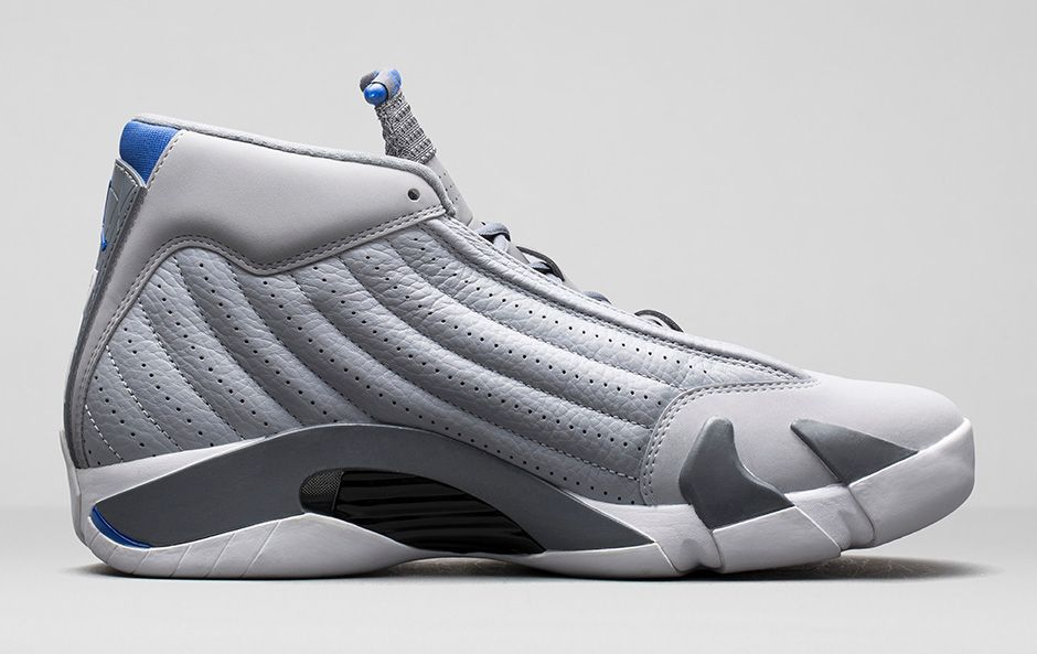 9120d1716b0ad4 high-quality Release Reminder Air Jordan XIV 14 Wolf Grey White Sport Blue
