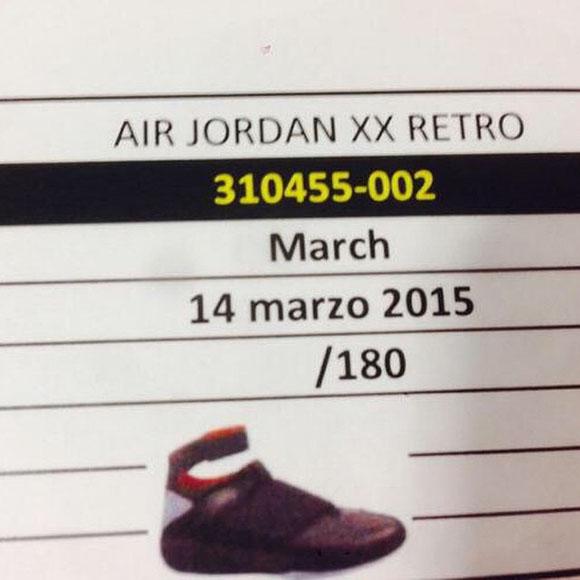 Air Jordan 20 Stealth Retro in 2015