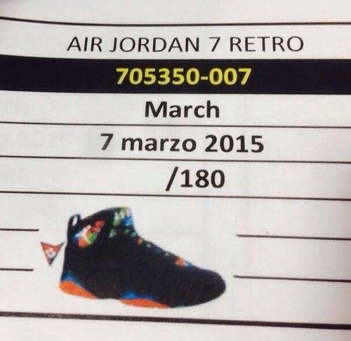 Air Jordan 7 Marvin the Martian 2015 Retro