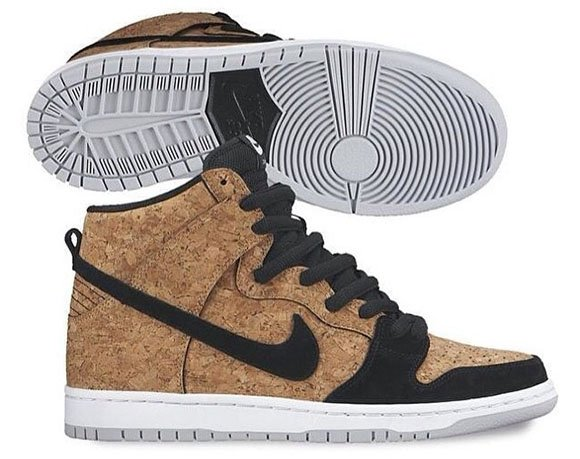 best website 3c7fd c9c64 Cork Nike SB Dunk High