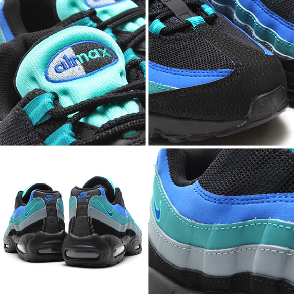 Nike Air Max 95 Black/Hyper Cobalt-Catalina