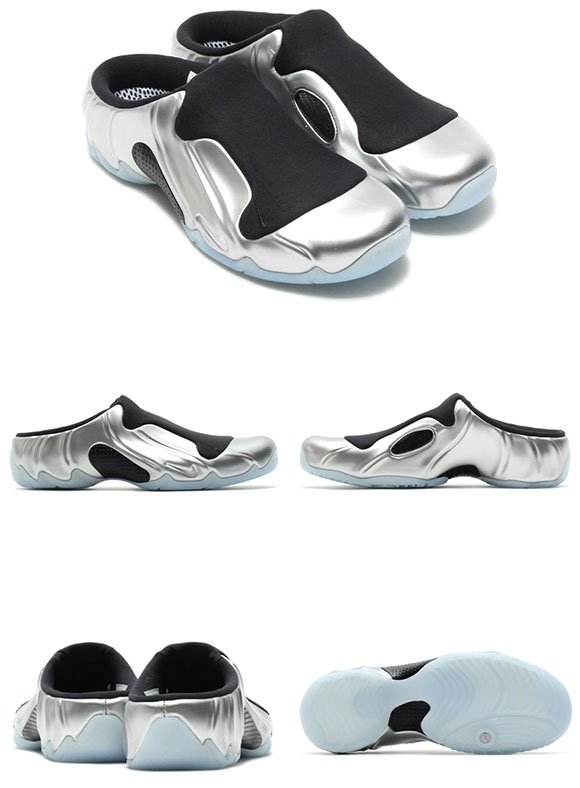 ... low-cost Nike Solo Slide Clogposite Metallic Silver Black ... 6678d95477