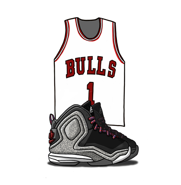 adidas D Rose 5 Boost Illustrated
