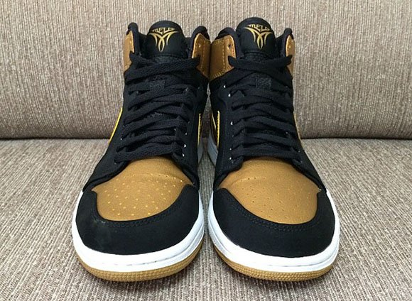 Air Jordan 1 Carmelo Anthony PE Black/Gold - Another Look