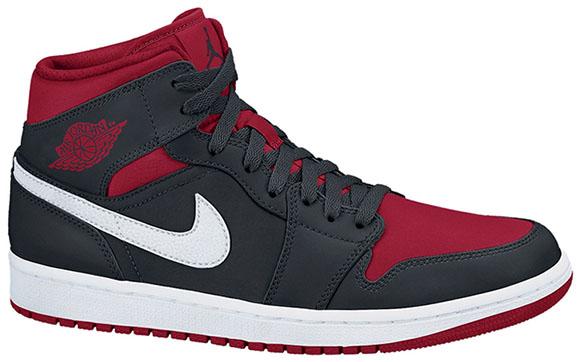 Air Jordan 1 Mid - Black/Gym Red