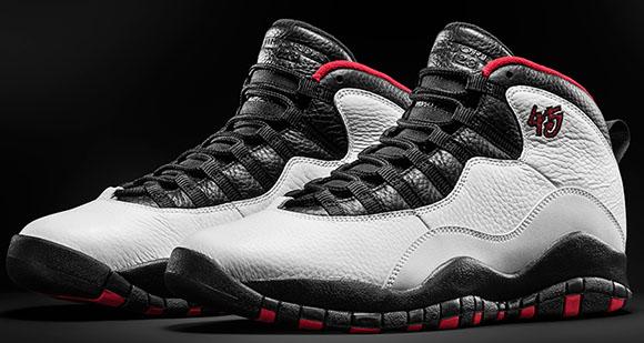 Air Jordan 10 Chicago 45 White/Varsity Red-Black (310805-102) Release Date