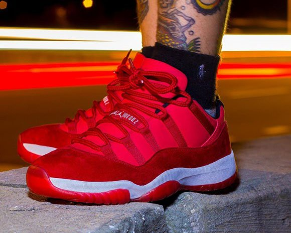 Air Jordan 11 Low Red Suede Another Look