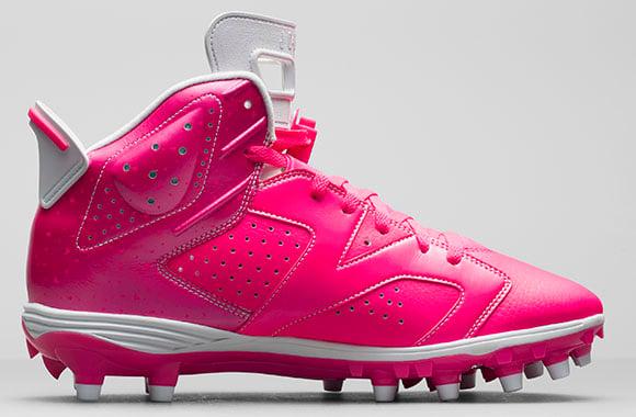 Air Jordan 6 Cleats Breast Cancer Awareness