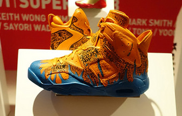 Air Jordan 6 Custom Display at Slam Dunk Event