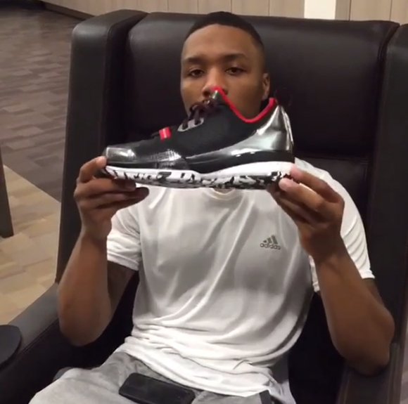 Damian Lillard Shows new Signature Shoe: adidas DLillard 1